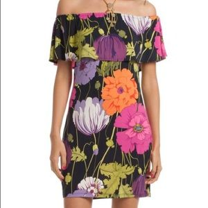 Trina Turk Merci Off Shoulder Floral mini dress
